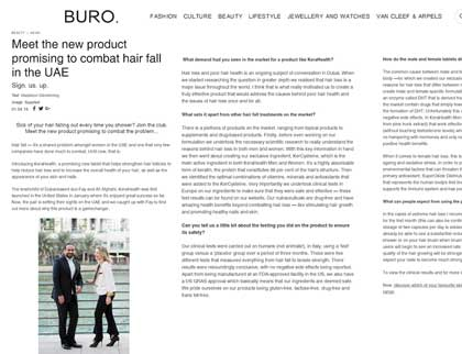 In the press- Meet the new product promising to combat hair fall in the UAE