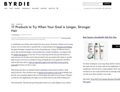 In the press- 17 Products to Try When Your Goal is Longer, Stronger Hair
