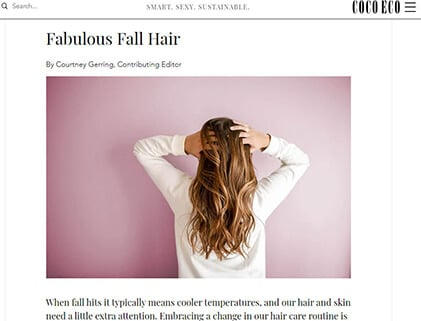 In the press – Fabulous Fall Hair
