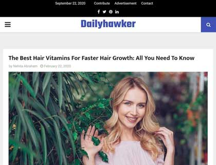 In the press- The Best Hair Vitamins For Faster Hair Growth: All You Need To Know