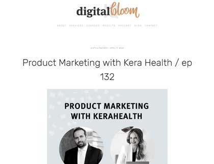 In the press- Product Marketing with KeraHealth