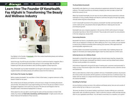 In the press – Learn How The Founder Of KeraHealth, Fay Afghahi Is Transforming The Beauty And Wellness Industry