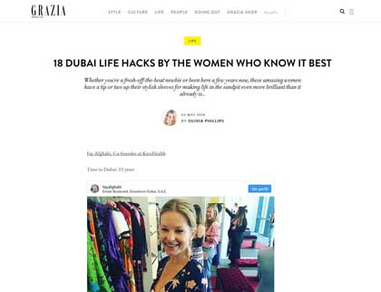In the press- 18 Dubai life hacks by the women who know it best