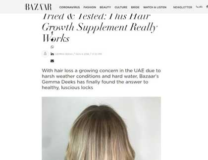 In the press- Tried & Tested: This Hair Growth Supplement Really Works