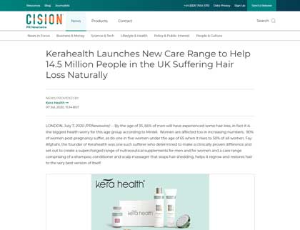 In the press- Kerahealth Launches New Care Range