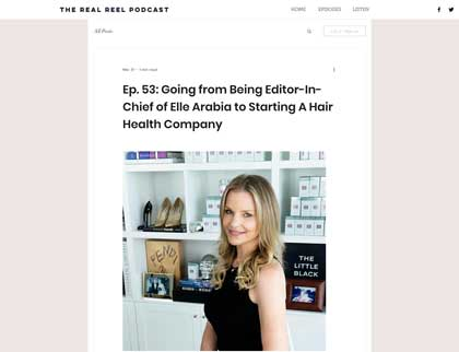 In the press- Going from Being Editor-In-Chief of Elle Arabia to Starting A Hair Health Company