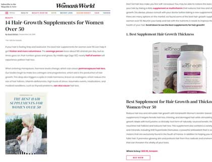 In the press- 14 Hair-Growth Supplements for Women Over 50